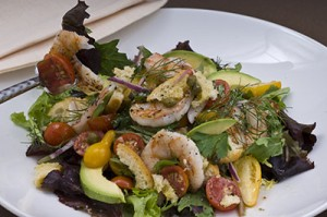 Small Grilled Shrimp Panzanella