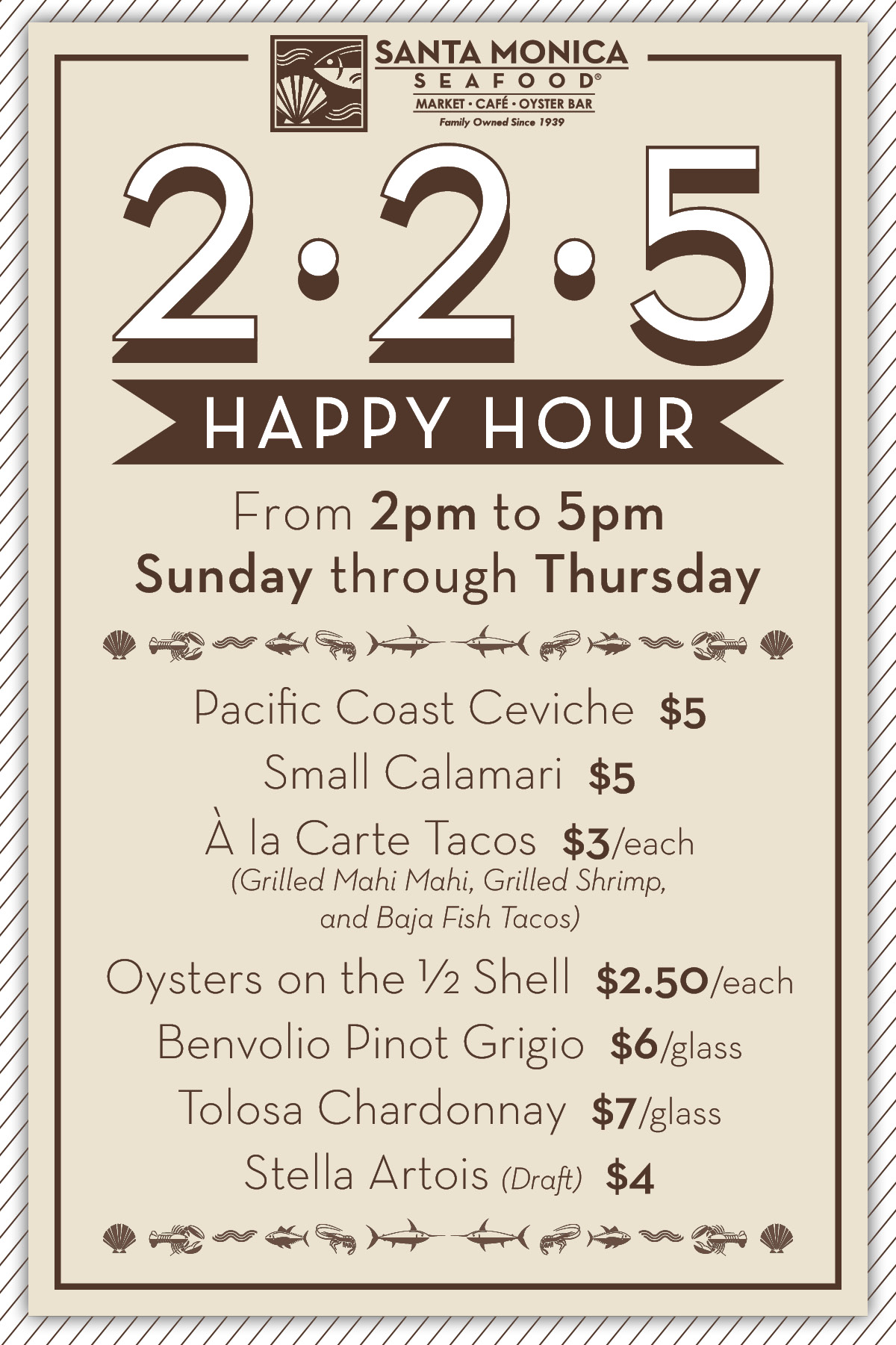 happy hour santa monica seafood market cafe